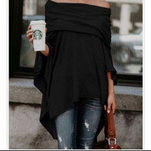 Suzanne Somers 3 Way Poncho Top XL - 3XL Black